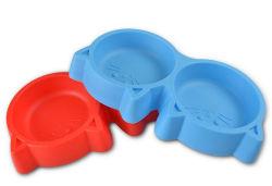 Perro de plástico, recipientes de alimentos para mascotas Pet cuenco, tazón de agua
