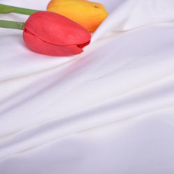 Polyester satin de coton blanc tissu à armure sergé Bedsheet Hôtel