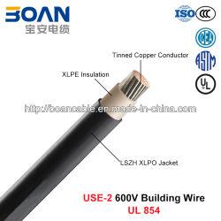 Utilisez-2, le fil de bâtiment, 600 V, les conserves d'Cu/XLPE/LSZH (UL 854)