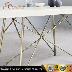 Encabezaron la mesa de comedor madera maciza de acero inoxidable con ventaja en la Sala de estar