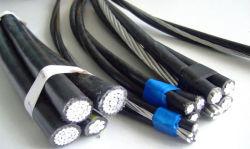 0.6-10kv Surcharge en aluminium/cuivre ABC Câble d'alimentation