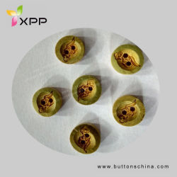11.25mm Bamboo Button mit Especial Laser Drawing Natural Button