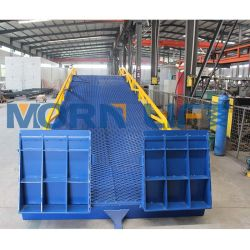 Используется складной стальной двор гидравлические аппарели контейнера док для мобильных ПК