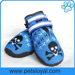 أحذية الكلاب الأليفة جيدة التهوية مع أشرطة Magic التأملية