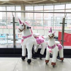 기계적인 Unicorn 바퀴 망아지에 걷는 승마용 말 장난감 말
