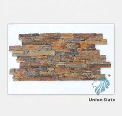 녹스는 집을%s 규암 슬레이트에 의하여 경작되는 돌 판자벽
