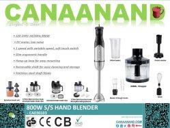 - Inmersión Canaanand Electrodomésticos de CC de jugo de la mano Stick Blender piezas de repuesto