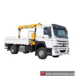 Sino Truck Crane 장비 HOWO 4x2 신규 또는 중고 소형/대형 배출 붐이 있는 후방 트럭 장착형 크레인