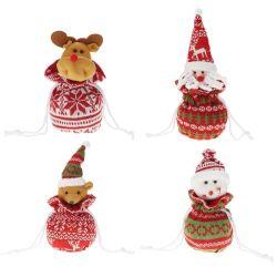 Borsa regalo con pendente di Natale in maglia Candy Bags Festival decor