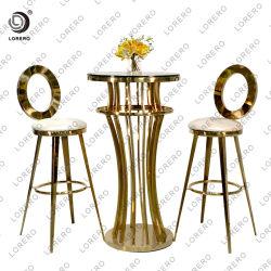 Meubles de salle à manger moderne Stainlessbar tabouret de mariage de l'acier or High Bar Président