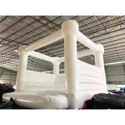 2021 Outdoor White Wedding Bouncer opblaasbaar Huis springen Bouncy Castle Te koop