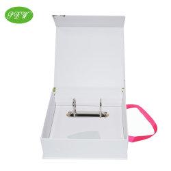 쉬운 리본 손잡이를 가진 마분지 문서 파일 폴더는 상자를 전송한다