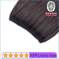 Remy 100% Brasileña sin procesar en línea recta Cabello hacia abajo Hair Extension