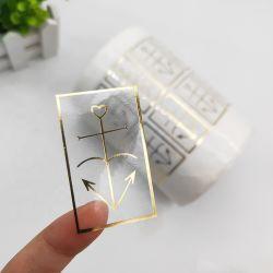 中国のラベルメーカー、カスタム付着力の明確なロゴの防水プライベートラベルのステッカーの印刷