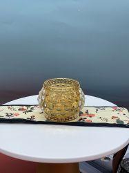Supporto per candela in cristallo trasparente, vetro, in vetro, all'ingrosso personalizzato Decorazione domestica, decorazione di cerimonia nuziale del vetro, Contaiiner di vetro, ceramica di vetro, artigianato di vetro