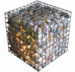 Hoogwaardig thermisch gegalvaniseerd materiaal Gabion Stone Cage