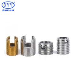 M10 1/4-20 6-32 جلبة ذاتية اللولبة من الفولاذ المقاوم للصدأ ذات فتحات