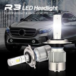 Voyant LED Focos R3 Voiture phares H4 50W DEL DEL Bombillo Luz H7 H1 H3 H8 H11 9005 9006 Auto des ampoules des feux de brouillard Voiture projecteur LED H7