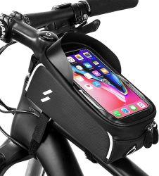 Telefone de bicicletas Saco da Estrutura Dianteira - à prova de tubo superior do aluguer de bicicleta para montagem de telefone para telefone Pack 6.0'' Phone