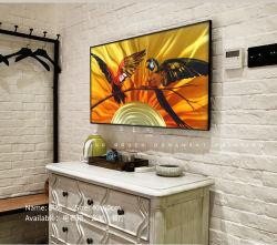 Parrot 3D Animal Metal Print dipinti a olio in alluminio spazzolato moderni Arti decorative della parete degli interni
