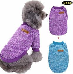 Pack Pet Dog Pullover Weich Verdickung Warm Klassische Strickmode Puppy Katzenbräuchen für kleine mittelgroße große Hunde