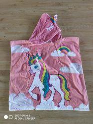 Impresos digitales de los niños toalla Poncho Unicorn