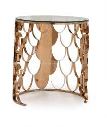 Rosen-Goldenden-Tisch mit Glas-oder Marmor-Oberseite