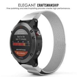 Bandas de metal de acero inoxidable milanés Smart correas de reloj para Garmin Fenix5X