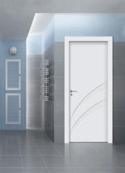 Hoogwaardig nieuw ontwerp WPC-deur binnendeur deur schommel Deur Houten deur Franse deur