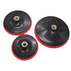 """4"""" amoladora angular de 5"""" Adaptador de gancho y bucle Backer plástico elástico"""