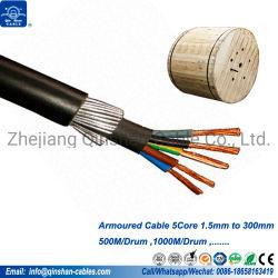 Laag Voltage 5core 1.5mm 2.5mm 4.0mm de Gepantserde Kabel van de Draad van het Staal