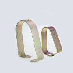 Amarillo de acero al carbono de liberación rápida de Zinc Puente de la abrazadera de la abrazadera del tubo galvanizado