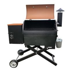 전기 디지털 제어판 중부하 작업용 실외 옵셋 배럴 우드 피시 고기 흡연자와 펠렛 차콜 바비큐 그릴
