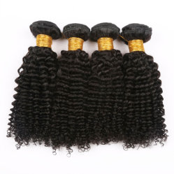 Kinky afro brasileña paquetes de tejido de pelo rizado cabello humano.