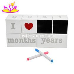 Calendario di blocco di legno creativo Handmade per il tavolo W13A166