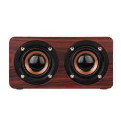 Klassischer drahtloser hölzerner Computer beweglicher beweglicher mini Retro hölzerner Bluetooth Lautsprecher