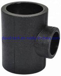 Reductor de HDPE de soldadura de la toma de la reducción de la tee recto de montaje del tubo de suministro de agua