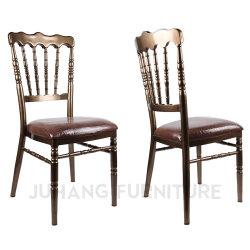 Empilhamento de Metal Mobiliário Hotel banquete de núpcias Napoleon cadeiras (HM-W013)
