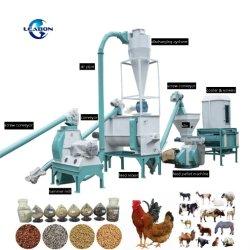 1-3T/H de la máquina máquina de alimentación animal de granja de aves de corral Fábrica de Pollos Precio peletizadora de animales