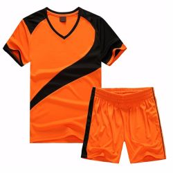 Nouveau design de haute qualité à bas prix de la Chine Youth Soccer uniforme orange