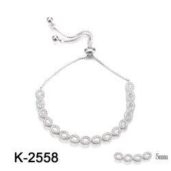 Fashhion 925 Sterling Silver bracelete de jóias para casamento