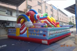 ملعب مرح مطاطي جذاب ومتنوع للأطفال، 0.55 مم PVC، م مر