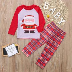 2020 100% Baumwolrunde lange Hülsen-Familien-abgleichende Pyjamas, die Säuglingskind-Set-Frauen-preiswerte Weihnachtsfamilien-Pyjamas abgleichen