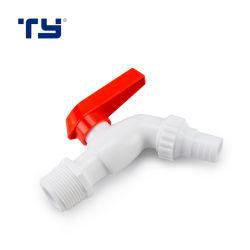 Пластиковый ПВХ струей воды кран на кухне в ванной комнате Bibcock раковину торговые марки заслонки смешения воздушных потоков одного красного рукоятки