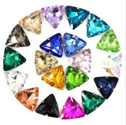Dreieck-Hand-Stitched Bohrgerät-Kristallgreifer Drill Hochzeits-Kleid-Schuh-Größen-Zubehör materiell