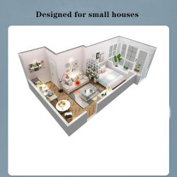 Combinação #Sofá para pequenos apartamentos, Design lavável removível #Sofá 0138