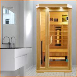 1 stanza asciutta di sauna della persona con il riscaldatore di vetro dell'indicatore luminoso giallo