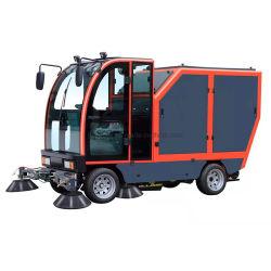 Todos fechados alimentada por pilha Street Sweeper Auto-Dumping eléctrico do veículo Street Sweeper carro vassoura do piso na estrada