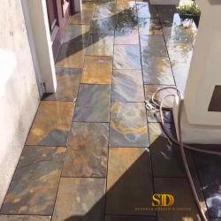 Outdoor Schiefer Pflaster Stein Rusty Schiefer Bodenfliesen für den Außenbereich Bodendekoration Im Innenbereich