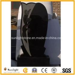 União/russo/estilo Americano em granito preto/Mármore Monumento Tombstone com Design Personalizado
